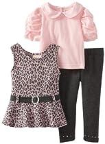 Little Lass Baby-Girls Infant 3 Piece Belted Jumper Set, Pink, 12 Months
