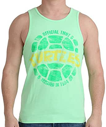 Teenage Mutant Ninja Turtles Men's Tmnt Neon Shell Tank Shirt
