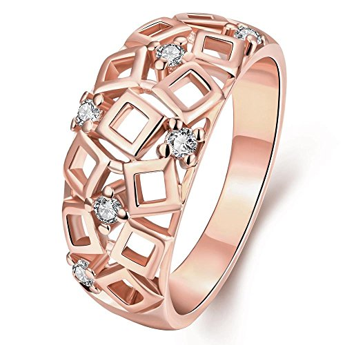 [Stylish And Elegant Hollow Out Geometry Shape Personality Pattern Rings - Square Space] (Pink Lady Costume Images)