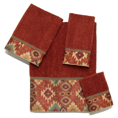 Avanti Tucker 4-Piece Towel Set, Copper