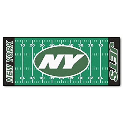 FANMATS NFL New York Jets Nylon Face Football Field Runner