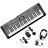 Casio CTK-1300 61 note electronic portable musical keyboard - including AD-95100LE power supply and Numark HF125 stereo headphones