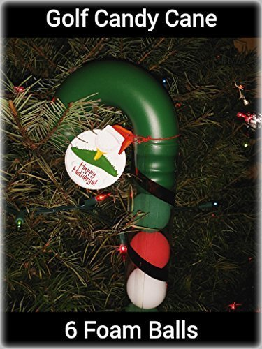 Golf Candy Cane Holder with Foam Practice Balls - 1