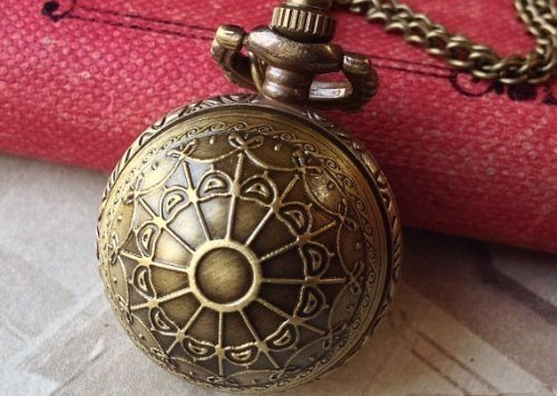 Vintage Jewelry - Vintage Victorian Bronze Ball Locket Watch Necklace - Boxed & Gift Wrapped