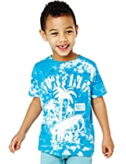 Pure Cotton Tie Dye Surfing Dude T-Shirt