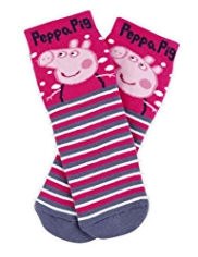 Cotton Rich Peppa Pig Terry Slipper Socks