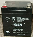 12v 4ah Sealed Lead Acid Battery for Casil Ca1240 Alarm Control System