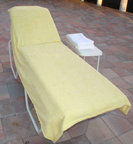 Lounge Chair Covers Wonder for Pool Spa Hotel yellow