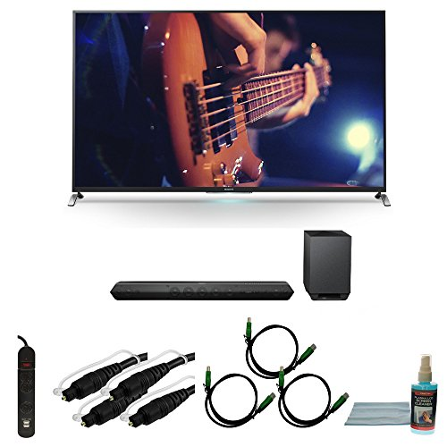 "55"" Smart 3D Led Hdtv Motionflow Xr 480 Plus Tilt Mount Hookup Bundle Kdl55W950B. Bundle Includes Tv, Hd Sound Bar, Surge Strip With Usb, Screen Cleaning Kit, 2 6Ft Optical Audio Cables, And 3 6Ft Hdmi Cables"