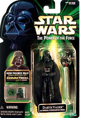 Star Wars Power Of The Force Commtech Darth Vader Action Figure by Hasbro