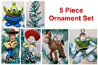 Toy Story 5 Piece Holiday Christmas Tree Ornament Set Featuring Woody, Jessie, Buzz Lightyear, Bullseye, and Alien 2 to 4 Ornaments