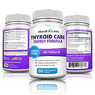 Best Thyroid Support Supplement - - New - Potent Formula Improves Thyroid Health with Fast Acting Herbal Ingredients that Boost Energy & Increase Metabolism - Aids in Weight Loss - 30 Day Supply