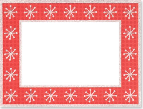 Dots and Snowflakes Photo Frame Cards (Christmas Cards, Holiday Cards, Greeting Cards)