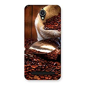 Cute Coffee Beans Brown Back Case Cover for Zenfone Go