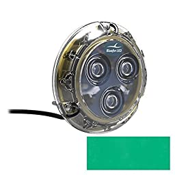 Bluefin LED Piranha P3 Surface Mount Underwater LED Light - 1100 Lumens - Emerald Green by Bluefin LED