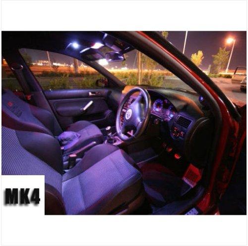 Cool White Modern 11Pc Interior Led Kit White Hid Xenon Accent For Vw Jetta Mk4