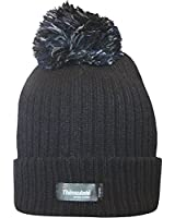Ladies Thinsulate Chunky Knit Fleece Lined Insulated Thermal Winter Bobble Hat