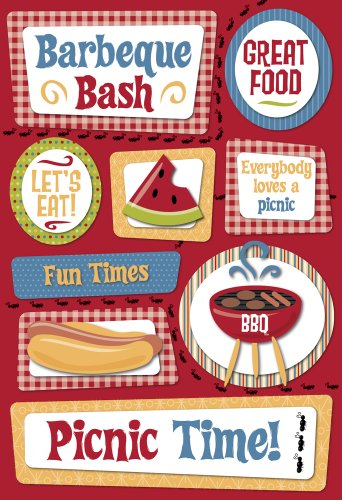 Karen Foster Design Acid And Lignin Free Scrapbooking Sticker Sheet, Picnic