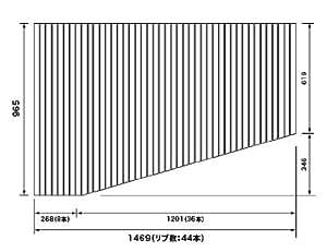 パナソニック 風呂ふた RLFK76MF1KKLC 965×1469mm (リブ数:44本) ( RLFK76MF1KKL 代替品 )