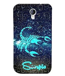 Fuson 3D Printed Sunsign Scorpio Designer back case cover for Micromax Unite 2 A106 - D4465