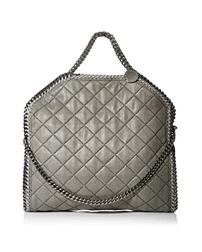 Stella McCartney Women's Small Quilted 3 Chain Falabella, Light Grey