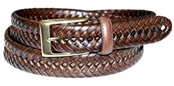 Dockers Men's 30mm Glazed Top Braid Belt,Tan,32