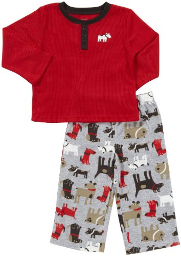 Carter'S 2-Pc L/S Thermal Pj Set - Dog- 3T front-1070611