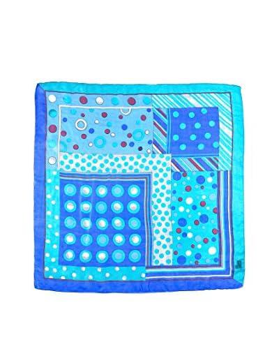 Marina D'Este Foulard 100% Seta Blu
