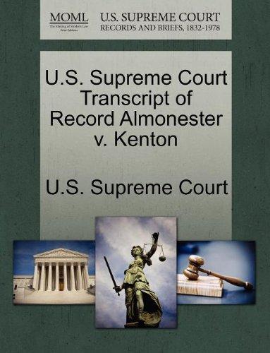 U.S. Supreme Court Transcript of Record Almonester v. Kenton