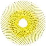 "Scotch-Brite Radial Bristle Disc Thin Bristle, Cubitron Grain, 20000 rpm, 3"" Diameter, 80 Grit, Yellow (Pack of 40)"
