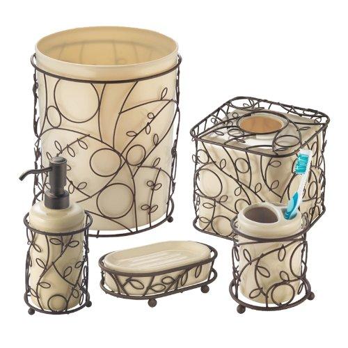Twigz Bronze Bath Accessories with Vanilla Inserts