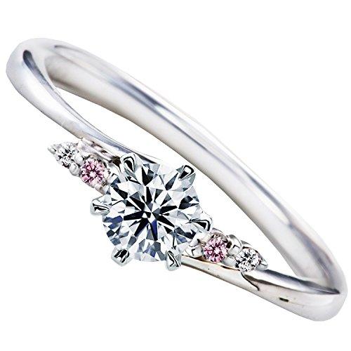 [ミワホウセキ] miwahouseki 天然 ピンク ダイヤモンド プロポーズ 婚約指輪 プラチナ 最高の輝き ダイヤ 0.2ct 鑑定書付 [M297PD] (11号)
