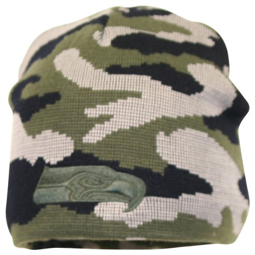 Seattle Seahawks Camo Knit Hat / Beanie at Amazon.com