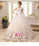 100% Brand New 2014 NEW Fashion Strapless Lace A-line Floor Length Bride Gown Wedding Dress