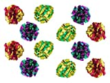 PetFavorites(TM) Mylar Crinkle Balls Cat Toys Best Interactive Crinkle Cat Toy Balls Ever Top Rated Independent Pet Kitten Cat Toys for Fat Real Cats Kittens Exercise, Soft/Light/Right Size (12 Pack)