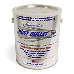 Rust Bullet RBA54 Automotive Rust Inhibitor Paint, 1 Gallon Metal Can, Metallic Gray