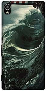 The Racoon Lean Night Waves hard plastic printed back case / cover for Sony Xperia Z5