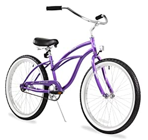 "Women's Urban Lady 24"" Beach Cruiser Bike Color: Purple"