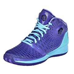 Adidas Boys Youth Kids Derrick D Rose 3.5 Basketball Shoes-Purple Teal-5 by adidas