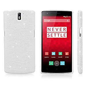 OnePlus One Case, BoxWave® [Digital Glitz Case] Slim-Fit Back Cover with Glitter Pattern Design for OnePlus One - White