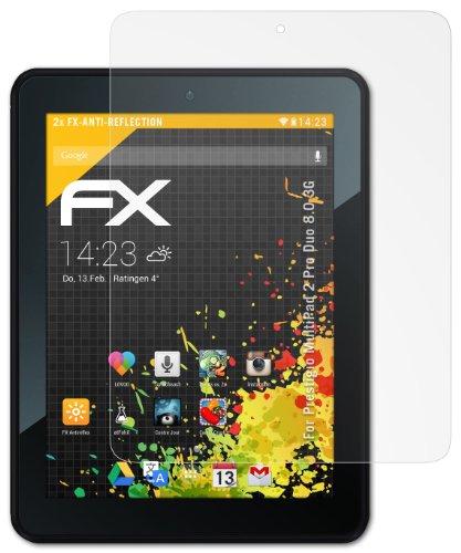 2 x atFoliX Schutzfolie Prestigio MultiPad 2 Pro Duo 8.0 3G - FX-Antireflex blendfrei