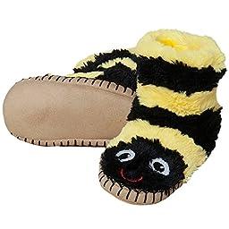 Hatley Boys\' Slouch Slipper - Bee - Small (5-7)