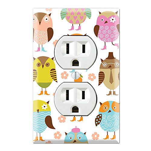 Duplex Wall Outlet Cover Plate Decor Wallplate - Owl (Owl Wall Plate Cover compare prices)