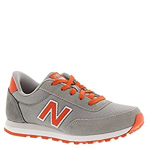 New Balance KL501 Youth Running Shoe,Grey/Orange,6.5 W US Big Kid