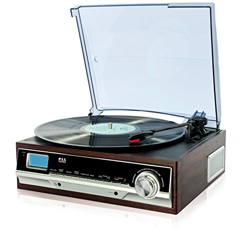 turntable-retro-design-wooden-record-player-radio-alarm-clock-aux-in
