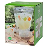 CreativeWare BEV17CLR Crown Beverage Dispenser with Base, 3.5 gallon