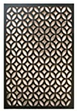 Acurio Moors Ellipse Black Vinyl Lattice Decorative Privacy Panel