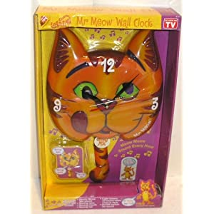 Meow Mix Mr. Meow Wall Clock