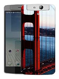 """Humor Gang Bridge Scenery New York Printed Designer Mobile Back Cover For """"Oppo N1"""" (3D, Matte, Premium Quality Snap On Case)"""