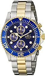 "Invicta Men's 1773 ""Pro Diver"" 18k Gold Ion-Plating and Stainless Steel Watch"